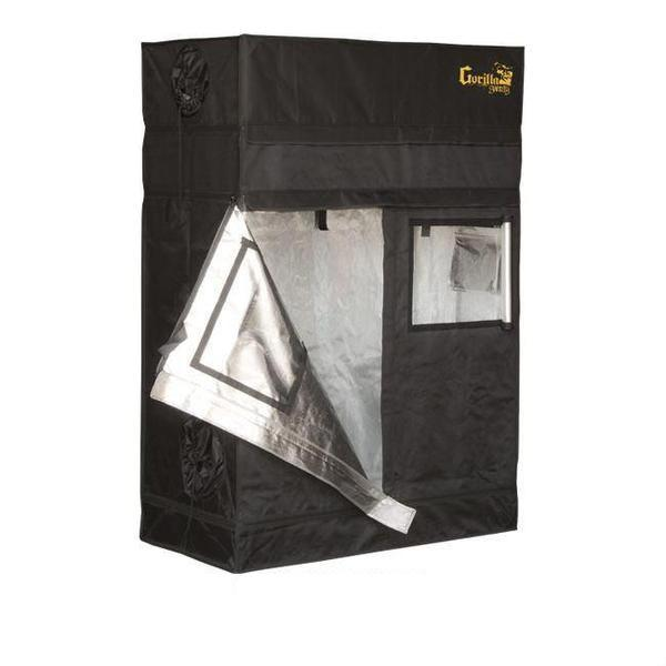 Gorilla Grow Tent Shorty 2′ x 4′ x 4′ 11″ (w/ ext. 5′ 8″)  - LED Grow Lights Depot