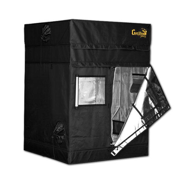 Gorilla Grow Tent Shorty 4′ x 4′ x 4′ 11″ (w/ ext. 5′ 8″)  - LED Grow Lights Depot