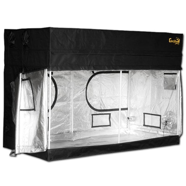 Gorilla Grow Tent Shorty 4′ x 8′ x 4′ 11″ (w/ ext. 5′ 8″)  - LED Grow Lights Depot