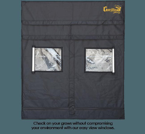 Gorilla Grow Tent Shorty 5′ x 5′ x 4′ 11″ (w/ ext. 5′ 8″)  - LED Grow Lights Depot