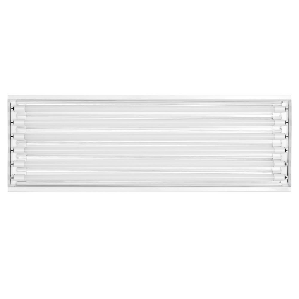 Toggled 6 Light 4 Ft Grow Light Fixture W Led Tubes 96