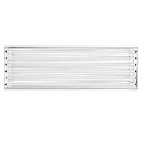 Toggled 6-Light 4-ft Grow Light Fixture w/ LED tubes - 96 watts  - LED Grow Lights Depot