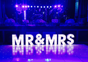 2ft  MR&MRS Light Up Letters for Wedding Dance Floor