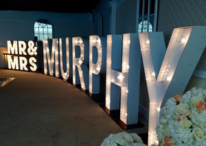 5ft Light up Mr & Mrs with Surname