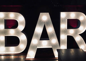 5ft Letters BAR for Hire