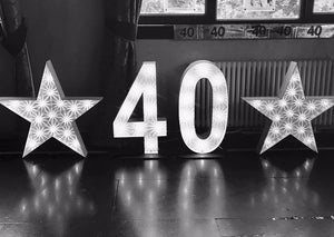 2ft 40 Light up Numbers for Birthday