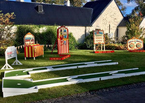 Mini Golf and Carnival Games for hire at weddings