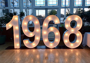 Light up Numbers for anniversary party