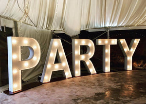 5ft Party light up letters for Barn Wedding