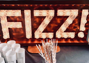 Light Up FIZZ Sign for Hire