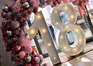5ft Light Up Numbers with Balloon Arch