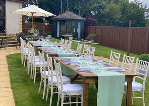 Rustic Trestle Table Hire Glasgow