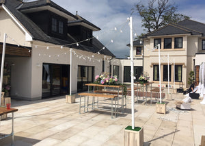 Outdoor Festoon Canopy for Hire