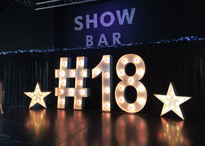 5ft 18 Light Up Letters with Stars