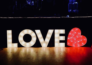 Light Up Love Letters for Hire Glasgow
