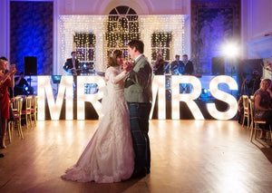5ft MR&MRS Light Up Letters for Weddings