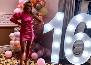 5ft Light Up Numbers with Balloons