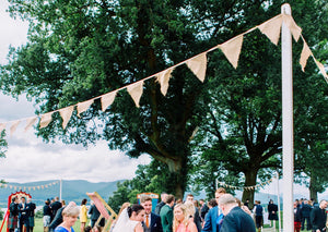 Hessian Style Bunting For Weddings