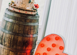 Whiskey Barrels for Cake Table For Hire