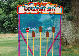 Coconut Shy Game for Hire at Weddings & Events