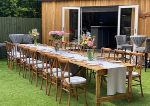 Outdoor Trestle Table Hire Glasgow.
