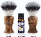 Wood oil and brush