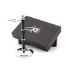 Dual Shaving Stand in Black and Silver Color