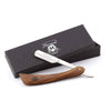 Wooden Razor Half Blade Cut Throat Razor