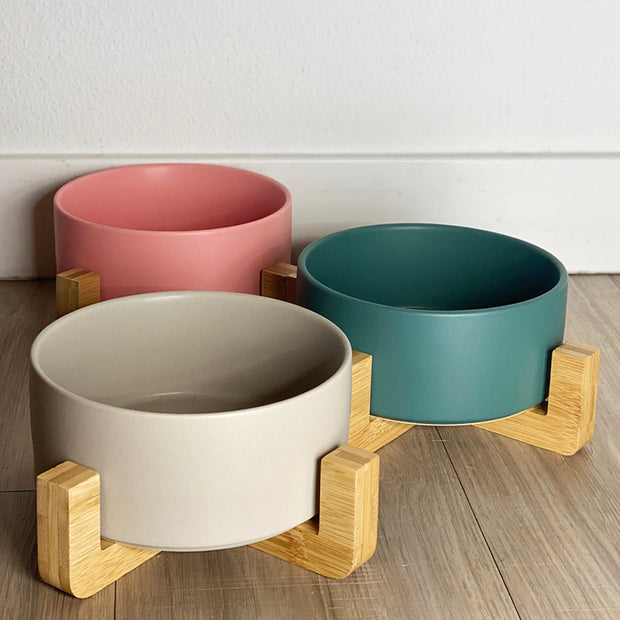 Ceramic Bowl with Bamboo Frame - Come Here Buddy