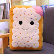 cute  cartoon plush hamburger ice cream french fries toy stuffed food Popcorn cake pizza pillow cushion kids toys birthday gift