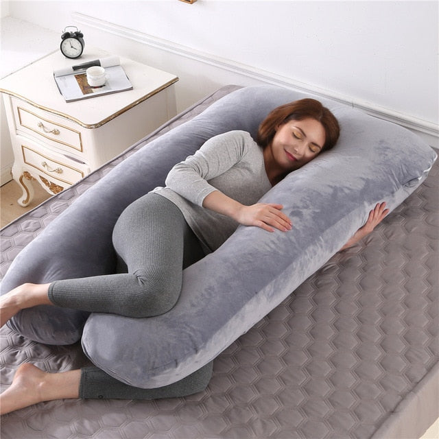 Sleeping Support Pillow For Pregnant Women - PillowsandBedStuff