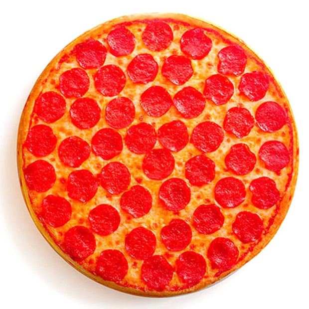 Simulation Tricky 3D Pillow Plush Pillow Flapjack Funny Pepperoni Pizza Junk Food Hipster Print Cool Pizza Butt Pillow