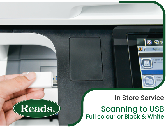 In Store Service: Scanning to USB - Full colour or Black & White