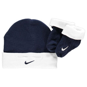 Nike navy and white hat and sock set