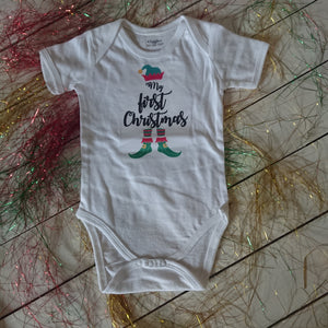 My First Christmas elf onesie