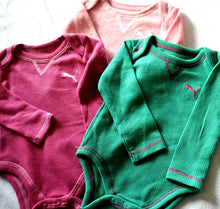 Load image into Gallery viewer, Puma Baby Girls bodysuits- pink, green and light pink