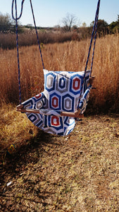 Burlap Handmade Swings with Back Pillow