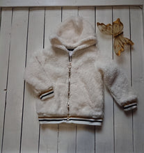 Load image into Gallery viewer, Girls Fleece Jacket with Gold trim