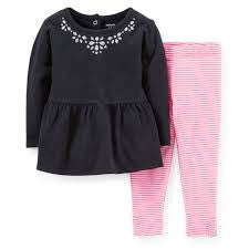 Carters 2 piece leggings and top set