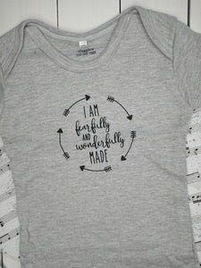 grey onesie - fearfully made