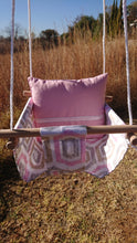 Load image into Gallery viewer, Burlap Handmade Swings with Back Pillow