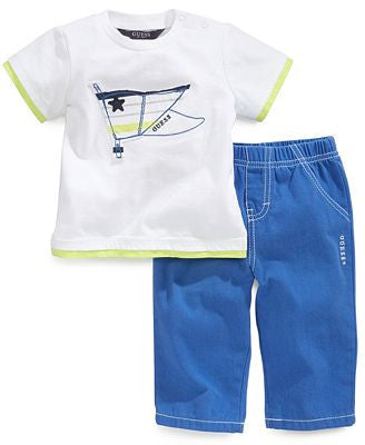 GUESS,Baby Boys 2-Piece Tee Pants