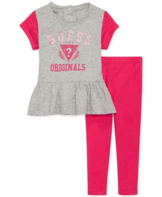 GUESS Baby Girls' 2-Piece Top & Leggings Set