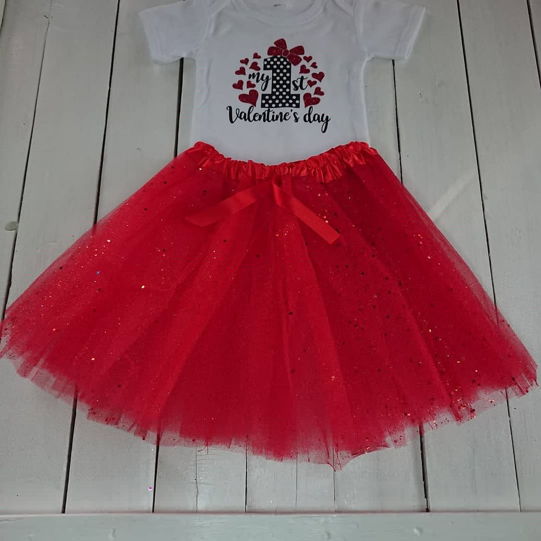 My First Valentine outfit Red Tutu