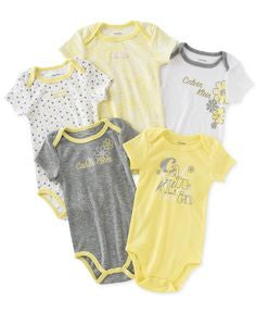 Calvin Klein yellow and silver girls bodysuits