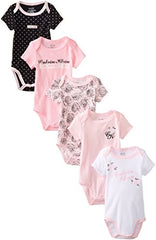 Calvin Klein Baby girls Bodysuits- pink and black