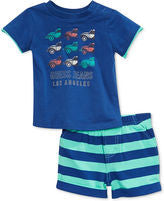 Guess boys 2-piece car tee striped shorts set