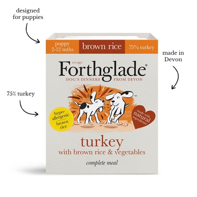 Forthglade Complete Puppy Turkey with Brown Rice & Veg 18x395g