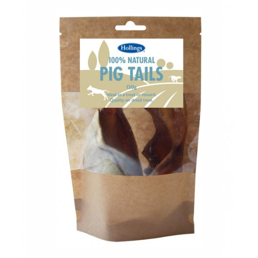 Hollings 100% Natural Pig Tails 120g