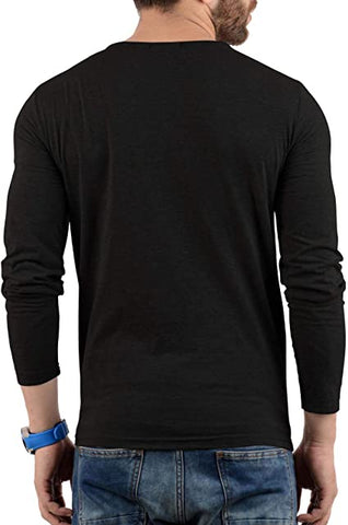 Black - Henley T-shirt
